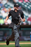 Umpire Paul Clemons during a game between the Syracuse Chiefs and Buffalo Bisons on July 31, 2016 at Coca-Cola Field in Buffalo, New York.  Buffalo defeated Syracuse 6-5.  (Mike Janes/Four Seam Images)