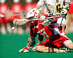 30 April 2011: Stony Brook Seawolves' midfielder Kevin Crowley, a Senior from New Westminster, British Columbia, in action against the University of Vermont Catamounts on Moulton Winder Field in Burlington, Vermont. The Catamounts fell to the visiting Seawolves 12-9 to conclude their America East season. Mandatory Credit: Ed Wolfstein Photo