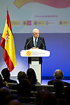 "Francisco Gonzalez during the 6th edition of the collecting badges to the new ambassadors fees ""Marca España"" in his 6th edition at BBVA City in Madrid, November 12, 2015.<br /> (ALTERPHOTOS/BorjaB.Hojas)"