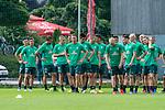 05.07.2019, Parkstadion, Zell am Ziller, AUT, TL Werder Bremen - Tag 01<br /> <br /> im Bild / picture shows <br /> <br /> <br /> Laufuebungen<br />   Mannschaft wartet auf den Startz - Feature - Fin Bartels (Werder Bremen #22) Yuya Osako (Werder Bremen #08)Milot Rashica (Werder Bremen #07) Niklas Moisander (Werder Bremen #18)<br /> Felix Beijmo (Werder Bremen #02)<br /> Davy Klaassen (Werder Bremen #30)<br /> Niclas Füllkrug / Fuellkrug (Neuzugang Werder Bremen #11)<br /> <br /> Foto © nordphoto / Kokenge