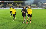 2015-10-30 / Voetbal / seizoen 2015-2016 / SK Lierse - R. Antwerp FC / De Lierse-spelers zijn de fans gaan groeten<br /><br />Foto: Mpics.be