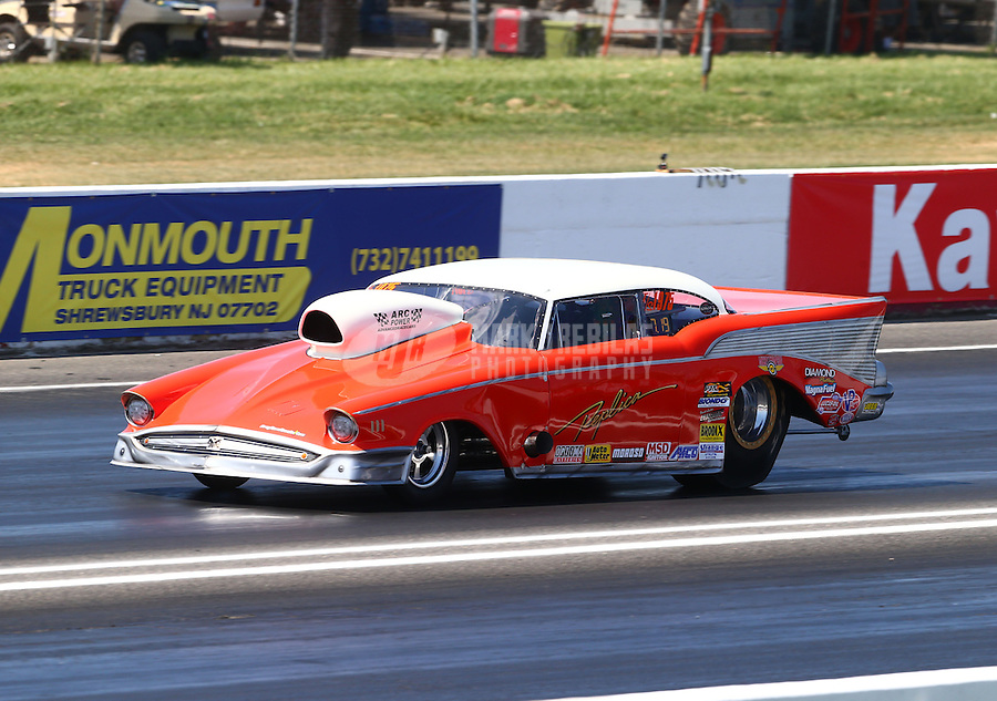 Jun. 1, 2013; Englishtown, NJ, USA: NHRA top sportsman driver XXXX during qualifying for the Summer Nationals at Raceway Park. Mandatory Credit: Mark J. Rebilas-