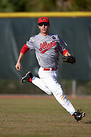 Illinois State Redbirds right fielder Jared Hendren (19) during a game against the Ohio State Buckeyes on March 5, 2016 at North Charlotte Regional Park in Port Charlotte, Florida.  Illinois State defeated Ohio State 5-4.  (Mike Janes/Four Seam Images)