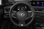 Car pictures of steering wheel view of a 2019 Lexus UX 250h-F-SPORT 5 Door SUV