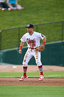 Peoria Chiefs third baseman Danny Hudzina (26) during a game against the West Michigan Whitecaps on May 9, 2017 at Dozer Park in Peoria, Illinois.  Peoria defeated West Michigan 3-1.  (Mike Janes/Four Seam Images)