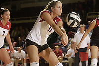 28 October 2005: Jessica Fishburn during Stanford's 3-0 win over Oregon State in Stanford, CA.