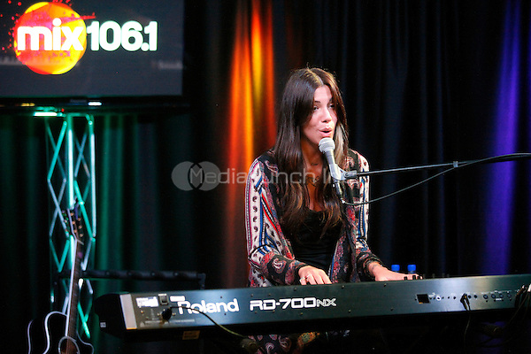 Christina Perry at MIX 106.1 iHeart performance Theater in Bala Cynwyd, Pa on February 13, 2012  © Star Shooter / MediaPunchInc