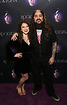 """Mike Portnoy and daughter attending the Broadway Opening Night Performance of  """"Rocktopia"""" at The Broadway Theatre on March 27, 2018 in New York City."""