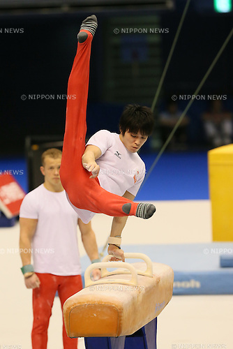 Kohei Uchimura (JPN), <br /> APRIL 3, 2014 - Artistic Gymnastics : <br /> FIG ART World Cup 2014 Tokyo <br /> official practice session <br /> at Tokyo Metropolitan Gymnasium, Tokyo, Japan. <br /> (Photo by YUTAKA/AFLO SPORT)