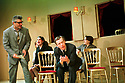 Darrel D'Sila,Stephen Boxer in Six Characters In Search Of An Author by Luigi Pirandello opens at the Young Vic Theatre on 15/2/01  pic Geraint Lewis