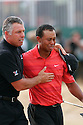 Tiger Woods (USA) breaks down in tears after sealing a two shot victory in the 135th Open Championship at Royal Liverpool Golf Club, Hoylake, on July 23rd, 2006. Woods has had to cope with the recent loss of his father. Picture Credit / Phil Inglis