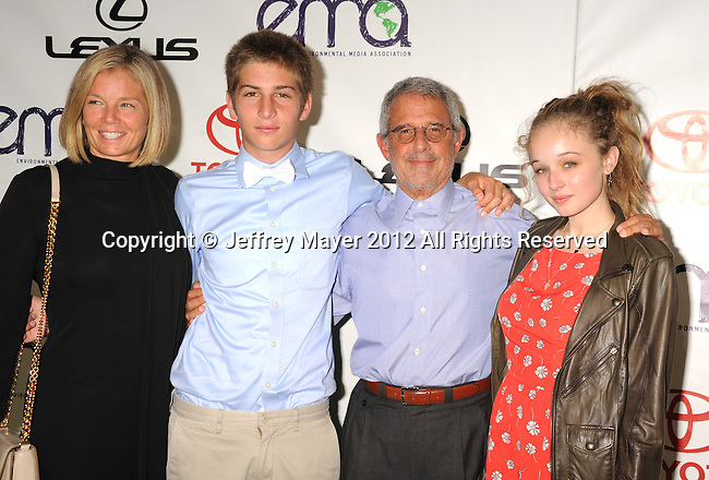 BURBANK, CA - SEPTEMBER 29: Ron Meyer and family arrive at the 2012 Environmental Media Awards at Warner Bros. Studios on September 29, 2012 in Burbank, California.