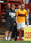 Motherwell's guest player James McFadden comes on