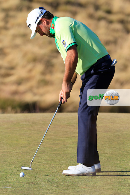 Graeme McDOWELL (NIR) takes his birdie putt on the 15th green during Friday's Round 2 of the 2015 U.S. Open 115th National Championship held at Chambers Bay, Seattle, Washington, USA. 6/20/2015.<br /> Picture: Golffile | Eoin Clarke<br /> <br /> <br /> <br /> <br /> All photo usage must carry mandatory copyright credit (&copy; Golffile | Eoin Clarke)