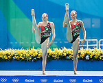 Natalia Ishchenko & Svetlana Romashina (RUS), AUGUST 15, 2016 - Synchronized Swimming : Duets Technical Routine Preliminary at Maria Lenk Aquatic Centre during the Rio 2016 Olympic Games in Rio de Janeiro, Brazil. (Photo by Enrico Calderoni/AFLO SPORT)