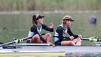 Lucerne, SWITZERLAND<br /> <br /> ARG W2-. Bow. Maria ABALO and Zoe FLEISCHMANN. 2016 European Olympic Qualifying Regatta, Lake Rotsee.<br /> <br /> Monday  23/05/2016<br /> <br /> [Mandatory Credit; Peter SPURRIER/Intersport-images]