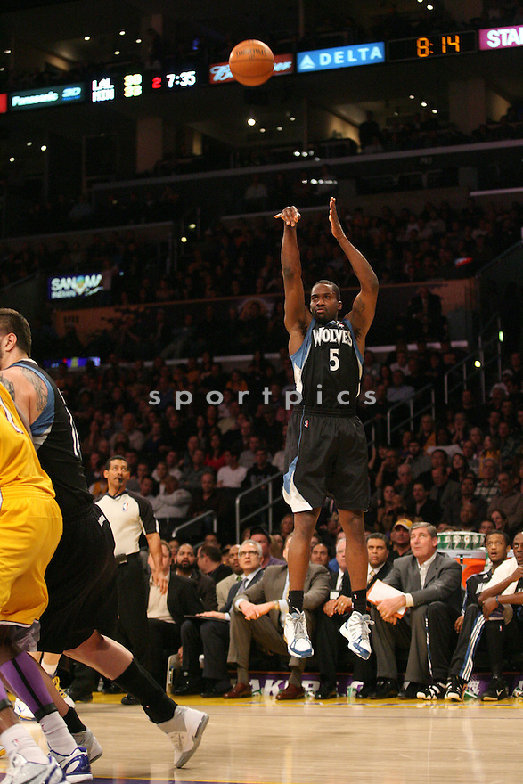 MARTELL WEBSTER, of the Minnesota Timberwolves in actions during the Timberwolves game against the Los Angeles Laker at Staples Center on March 18, 2011.  The LA Lakers won the game beating the Minnesota Timberwolves 106-98.