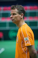 29-01-2014,Czech Republic, Ostrava,  Cez Arena, Davis-cup Czech Republic vs Netherlands, practice, Captain Jan Siemerink (NED)<br /> Photo: Henk Koster
