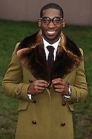 Tinie Tempah arrives for the Burberry Prosum menswear AW14 as part of London Collections Men, Kensington Gardens, London.08/01/2014 Picture by: Steve Vas / Featureflash
