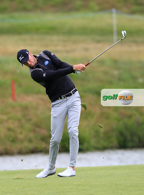 Chris Wood (ENG) on the 1st fairway during Round 2 of the HNA Open De France  at The Golf National on Friday 30th June 2017.<br /> Photo: Golffile / Thos Caffrey.<br /> <br /> All photo usage must carry mandatory copyright credit      (&copy; Golffile | Thos Caffrey)