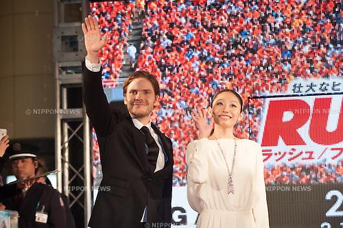 January 30, 2014 : Tokyo, Japan - Chris Hemsworth appears at the Japan Premiere for RUSH by Ron Howard in the Yurakucho Marion, Tokyo, Japan. (Photo by Yumeto Yamazaki/NipponNews)