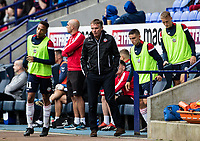 Bolton Wanderers' manager Phil Parkinson sends his bench out to warm up<br /> <br /> Photographer Andrew Kearns/CameraSport<br /> <br /> The EFL Sky Bet Championship - Bolton Wanderers v Coventry City - Saturday 10th August 2019 - University of Bolton Stadium - Bolton<br /> <br /> World Copyright © 2019 CameraSport. All rights reserved. 43 Linden Ave. Countesthorpe. Leicester. England. LE8 5PG - Tel: +44 (0) 116 277 4147 - admin@camerasport.com - www.camerasport.com