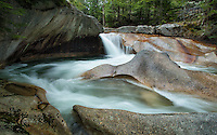 The Basin waterfall in the White Mountains, NH