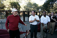 16 September 2006: Bill Walsh and Darrin Nelson at the gate six ribbon cutting opening during Stanford's 37-9 loss to Navy during the grand opening of the new Stanford Stadium in Stanford, CA.