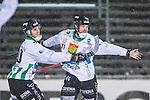 Uppsala 2014-01-12 Bandy  IK Sirius - GAIS Bandy :  <br />  GAIS Jacob Bucht har gjort 4-3 och jublar med GAIS Jimmy Jansson <br /> (Foto: Kenta J&ouml;nsson) Nyckelord:  jubel gl&auml;dje lycka glad happy