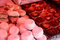 Baked riccotta, Palermo food market, Sicily