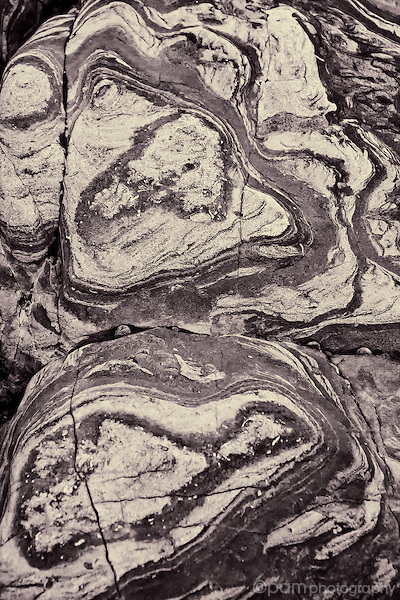 Abstract of beach rock patterns.  Can be 1 of a 2 or 3 part triptych.