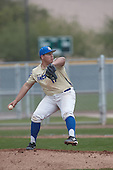 Jesse Garcia (17) of Grossmont High School in El Cajon, California during the Under Armour All-American Pre-Season Tournament presented by Baseball Factory on January 15, 2017 at Sloan Park in Mesa, Arizona.  (Kevin C. Cox/Mike Janes Photography)