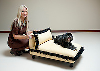 Janice Ford Grimes, owner of Spa Paws Hotel poses for a portrait Friday, September 3, 2010. The hotel, currently in the final phases of construction is a five star hotel geared for dogs. ..MATT NAGER for the Wall Street Journal