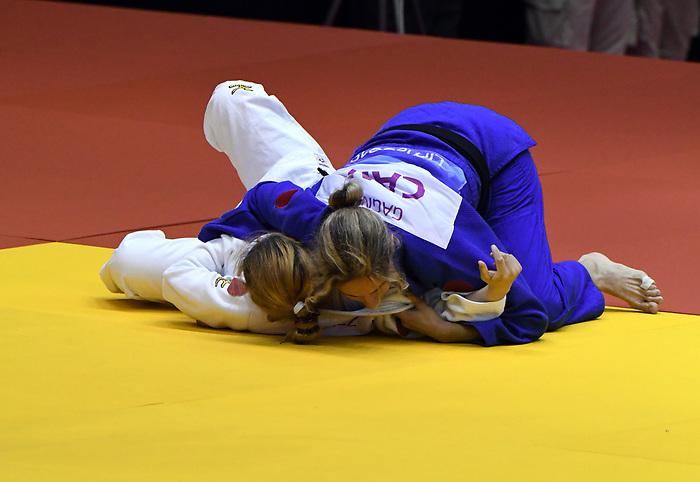Priscilla Gagne competes in Par Judo at the 2019 ParaPan American Games in Lima, Peru-24aug2019-Photo Scott Grant