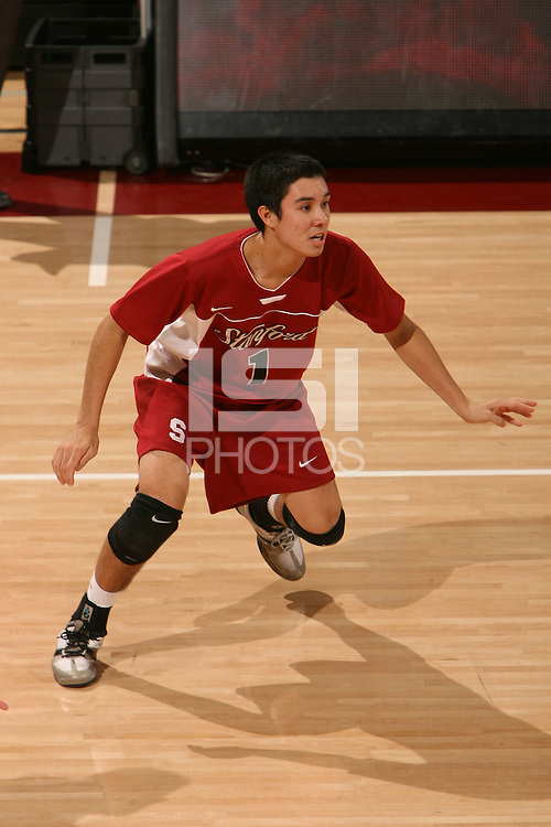 STANFORD, CA - JANUARY 30:  Erik Shoji of the Stanford Cardinal during Stanford's 3-2 win over the Long Beach State 49ers on January 30, 2009 at Maples Pavilion in Stanford, California.