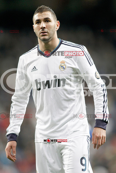 Real Madrid's Karim Benzema during Spanish King's Cup match.November 27,2012. (ALTERPHOTOS/Acero) /NortePhotoMx