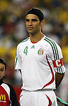 12 September 2007: Mexico's Rafael Marquez. The Brazil Men's National Team defeated the Mexico Men's National Team 3-1 at Gillette Stadium in Foxborough, Massachusetts in an international friendly.