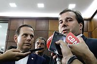 06.02.2018 - Rodrigo Maia e João Doria em SP