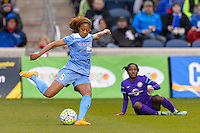 Bridgeview, IL, USA - Sunday, May 1, 2016: Chicago Red Stars defender Casey Short (6) during a regular season National Women's Soccer League match between the Chicago Red Stars and the Orlando Pride at Toyota Park. Chicago won 1-0.