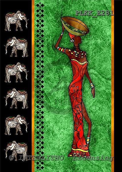 Kris, MODERN, ethnical, paintings, PLKKE281,#n# étnico, illustrations, pinturas