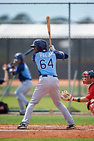 Tampa Bay Rays Jose Paez (64) during a minor league Spring Training game against the Boston Red Sox on March 23, 2016 at Charlotte Sports Park in Port Charlotte, Florida.  (Mike Janes/Four Seam Images)
