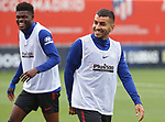 Atletico de Madrid's Thomas Partey (l) and Angel Correa during training session. May 26,2020.(ALTERPHOTOS/Atletico de Madrid/Pool)