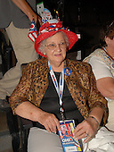 Denver, CO - August 25, 2008 -- Ruby Gilliam of Minerva, Ohio wears a hat celebrating the historic candidacies of United States Senators Hillary Rodham Clinton (Democrat of New York) and Barak Obama (Democrat of Illinois) on the floor of the 2008 Democratic National Convention at the Pepsi Center in Denver, Colorado on Monday, August 25, 2008..Credit: Ron Sachs - CNP.(RESTRICTION: NO New York or New Jersey Newspapers or newspapers within a 75 mile radius of New York City)