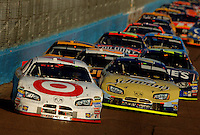 Nov 13, 2005; Phoenix, Ariz, USA;  Nascar Nextel Cup driver Casey Mears driver of the #41 Target Dodge leads the pack during the Checker Auto Parts 500 at Phoenix International Raceway. Mandatory Credit: Photo By Mark J. Rebilas