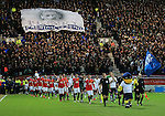 Preston's and Manchester United's players enter the field<br /> <br /> FA Cup - Preston North End vs Manchester United  - Deepdale - England - 16th February 2015 - Picture David Klein/Sportimage
