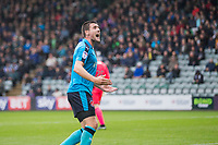 Bobby Grant of Fleetwood Town celebrates his side's first goal during the Sky Bet League 1 match between Plymouth Argyle and Fleetwood Town at Home Park, Plymouth, England on 7 October 2017. Photo by Mark  Hawkins / PRiME Media Images.