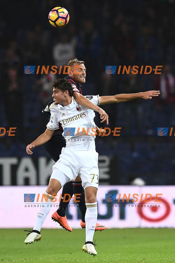 Genova 25-10-/2016 - Football Calcio campionato di calcio serie A / Genoa - Milan / foto Matteo Gribaudi/Image Sport/Insidefoto<br /> nella foto: Manuel Locatelli-Luca Rigoni