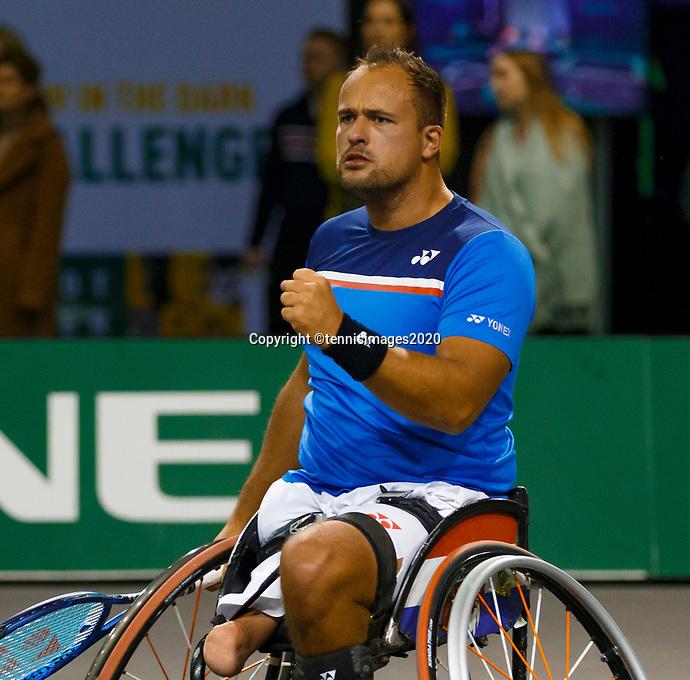 Rotterdam, The Netherlands, 9 Februari 2020, ABNAMRO World Tennis Tournament, Ahoy, Wheelchair: Tom Egberink (NED).<br /> Photo: www.tennisimages.com