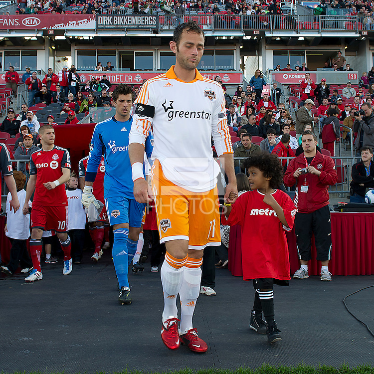 07 May 2011: Houston Dynamo midfielder Brad Davis #11 during the opening ceremonies in an MLS game between the Houston Dynamo and the Toronto FC at BMO Field in Toronto, Ontario..Toronto FC won 2-1.