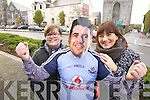 Listowel gets ready for the visit of Dublin Footballer Bernard Brogan on Friday pictured are Jennifer Stack and Kelly Browne,
